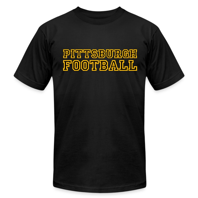 Pittsburgh Football Mens American Black - Men's T-Shirt by American Apparel