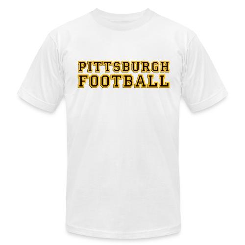 Pittsburgh Football Mens American White - Men's Fine Jersey T-Shirt