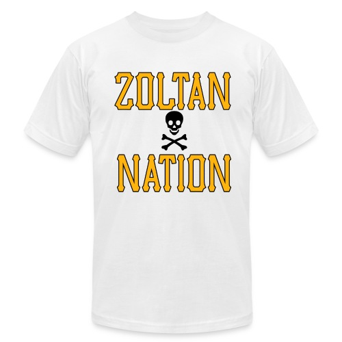 Zoltan Nation Mens American White - Men's Fine Jersey T-Shirt