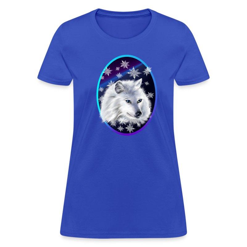 WHITE SNOW WOLF  oval - Women's T-Shirt