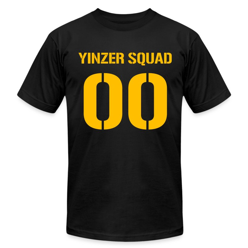 Yinzer Squad Mens American Black - Men's T-Shirt by American Apparel
