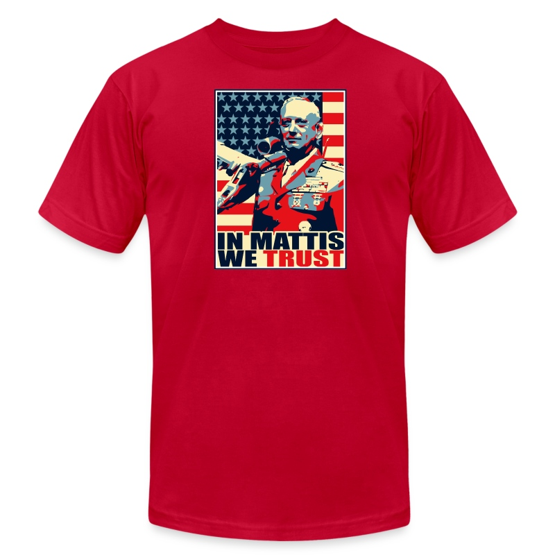 IN MATTIS WE TRUST - Men's T-Shirt by American Apparel