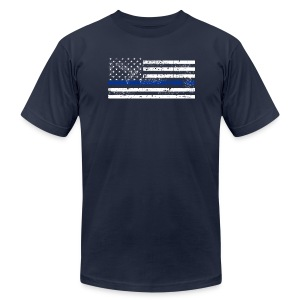 ThinBlueLine - Men's T-Shirt by American Apparel