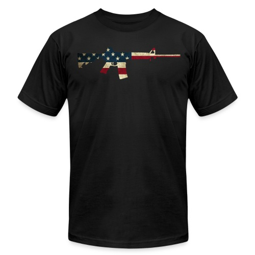AR-USA - Men's T-Shirt by American Apparel