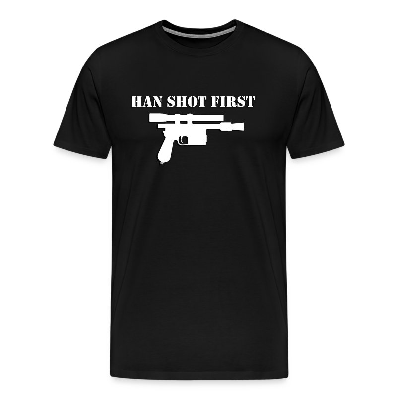 Han_Shot_First2 - Men's Premium T-Shirt