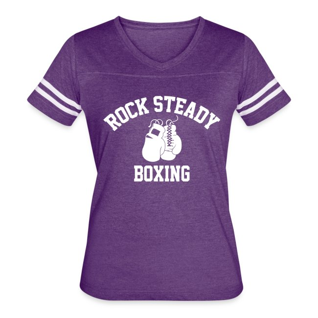 238aea56 Rock Steady Boxing | Vintage V-Neck - Women's Vintage Sport T-Shirt