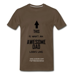 Awesome dad shirt - Men's Premium T-Shirt
