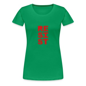 * RESIST vertical solid * - Women's Premium T-Shirt