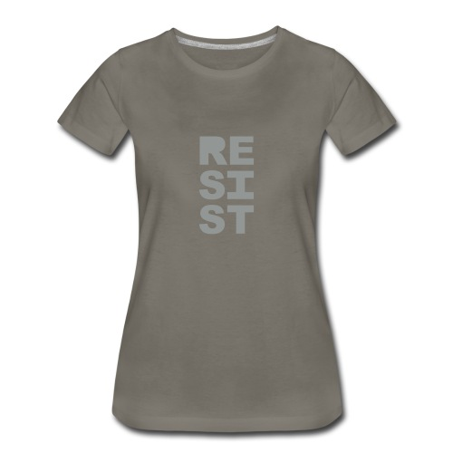 * RESIST vertical solid * (velveteen.print)  - T-shirt premium pour femmes