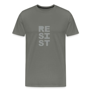 * RESIST vertical solid * (velveteen.print)  - Men's Premium T-Shirt