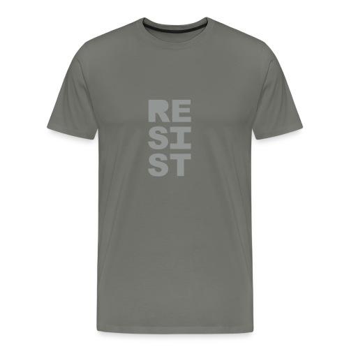 * RESIST vertical solid * (velveteen.print)  - T-shirt premium pour hommes