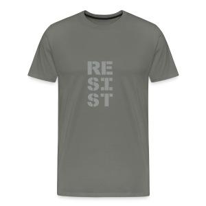 * RESIST vertical bold * (velveteen.print)  - T-shirt premium pour hommes