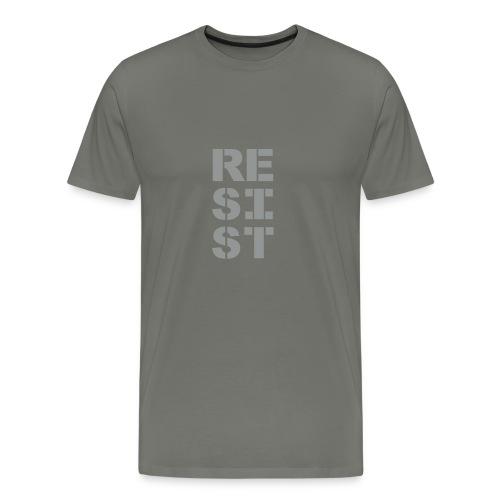 * RESIST vertical bold * (velveteen.print)  - Men's Premium T-Shirt