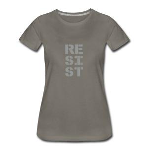 * RESIST vertical bold * (velveteen.print)  - T-shirt premium pour femmes