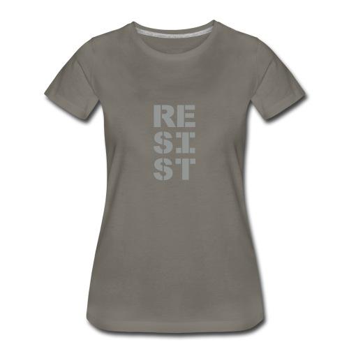 * RESIST vertical bold * (velveteen.print)  - Women's Premium T-Shirt