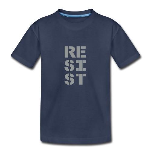 * RESIST vertical bold * (velveteen.print)  - Kids' Premium T-Shirt