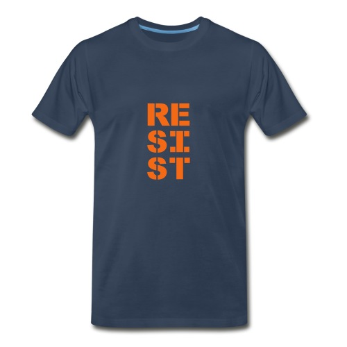 * RESIST vertical bold *  - Men's Premium T-Shirt