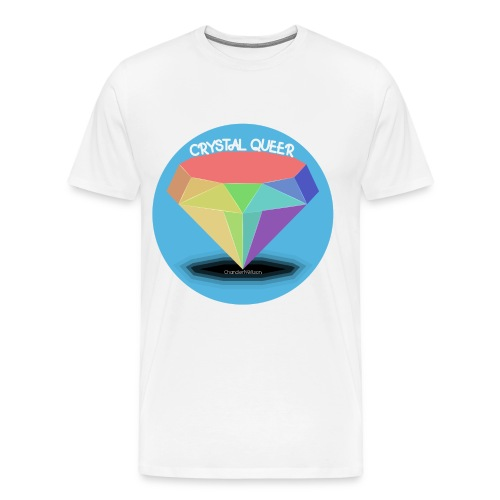 CRYSTAL QUEER white - Men's Premium T-Shirt