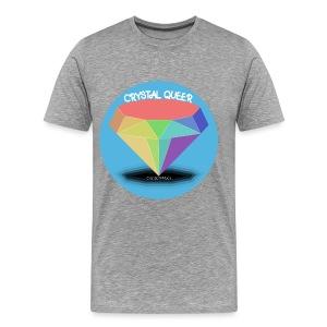 CRYSTAL QUEER gray - Men's Premium T-Shirt