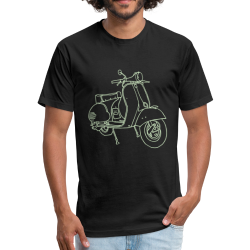 Motor scooter (glows in dark) - Fitted Cotton/Poly T-Shirt by Next Level