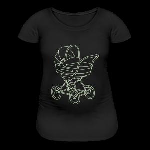 Baby stroller (glows in dark) - Women's Maternity T-Shirt