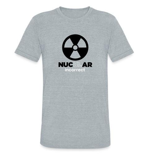 Incorrect: Nucular Triblend Tee - Unisex Tri-Blend T-Shirt