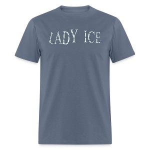 Lady Ice Logo Tee/FM on back - Men's T-Shirt
