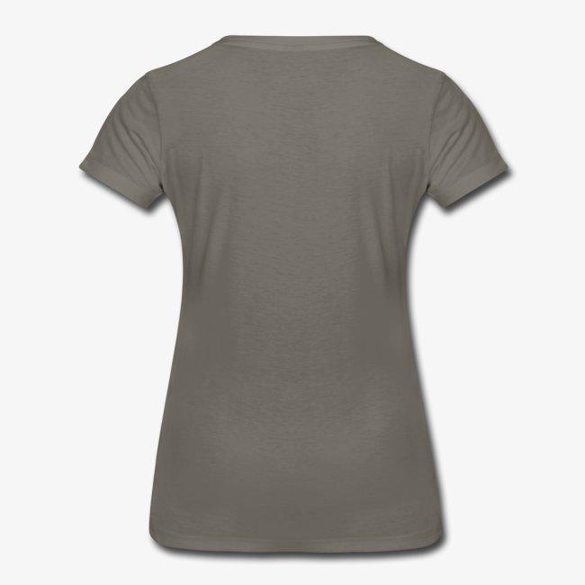 grey t-shirt with teal logo