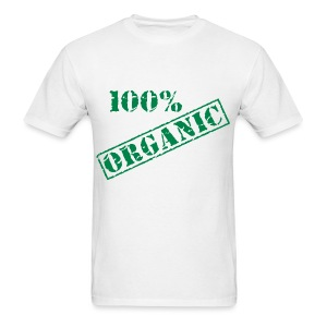 100% Organic Men's White T-Shirt - Men's T-Shirt