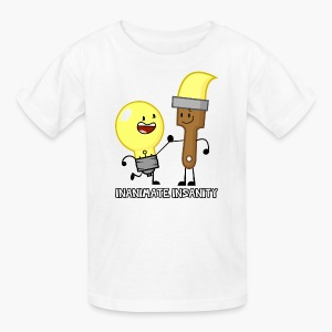 Lightbulb and Paintbrush Double - Child's - Kids' T-Shirt