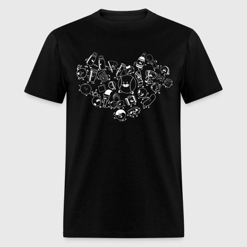 Inanimate Insanity Heart B&W Group - Men's - Men's T-Shirt
