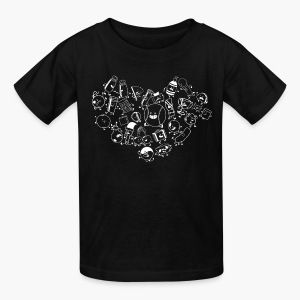 Inanimate Insanity Heart B&W Group - Child's - Kids' T-Shirt