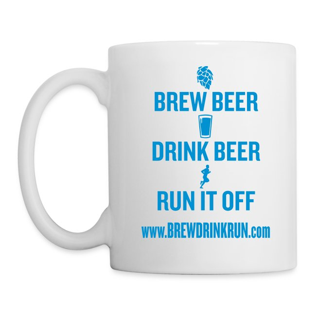 Brew Drink Run Coffee Mug