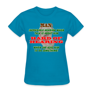 Women's Standard T- Man Hard of Hearing Front - Women's T-Shirt