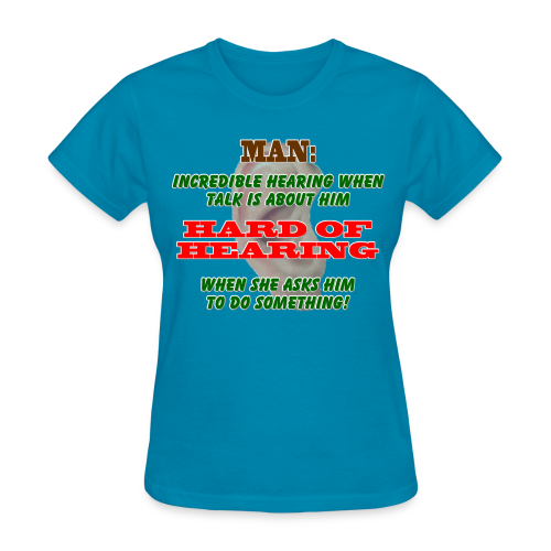 Women's Standard T- Man Hard of Hearing Front - Women's T-Shirt