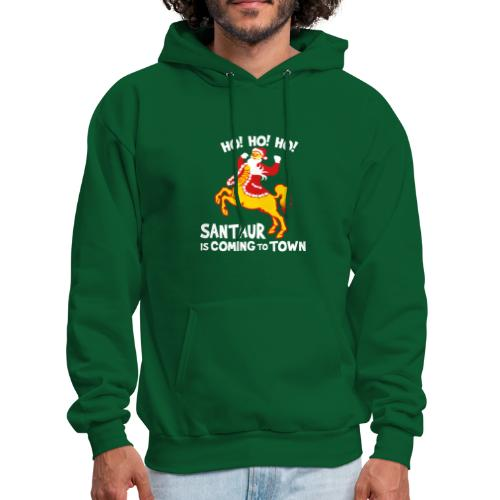 Santaur is Coming to Town Christmas Hoodie - Men's Hoodie