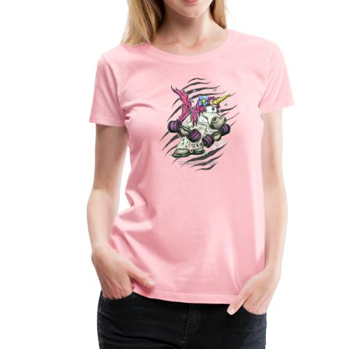 train like a unicorn - Women's Premium T-Shirt
