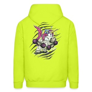 train like a unicorn - Men's Hoodie