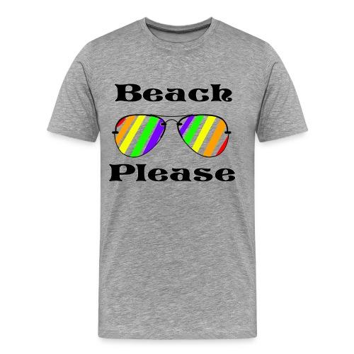 Beach Please - Rainbow Aviators - Men's Premium T-Shirt