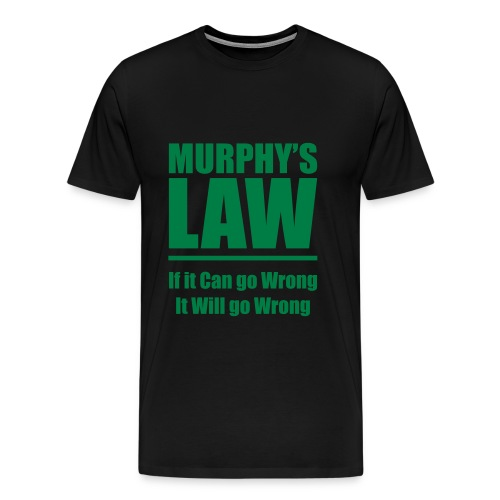 Murphys Law v1 Vector - Men's Premium T-Shirt