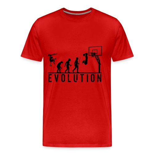 Evolution Basketball T Shirt - Men's Premium T-Shirt