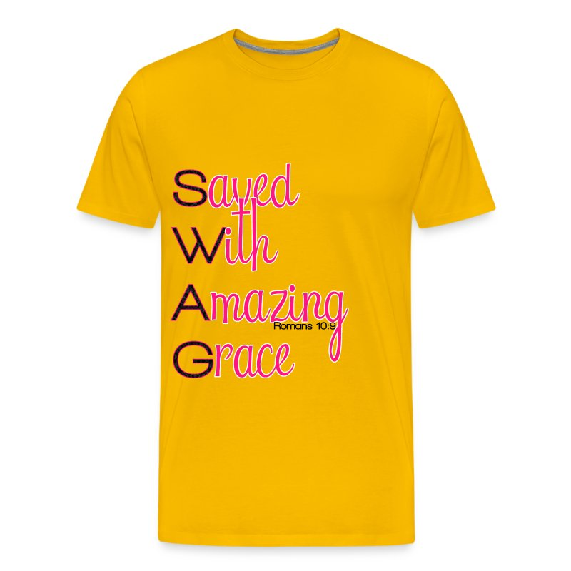 Saved with Amazing Grace - Men's Premium T-Shirt