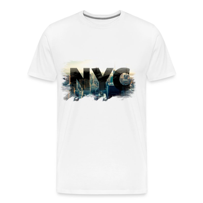 nyc new york city skyline - Men's Premium T-Shirt