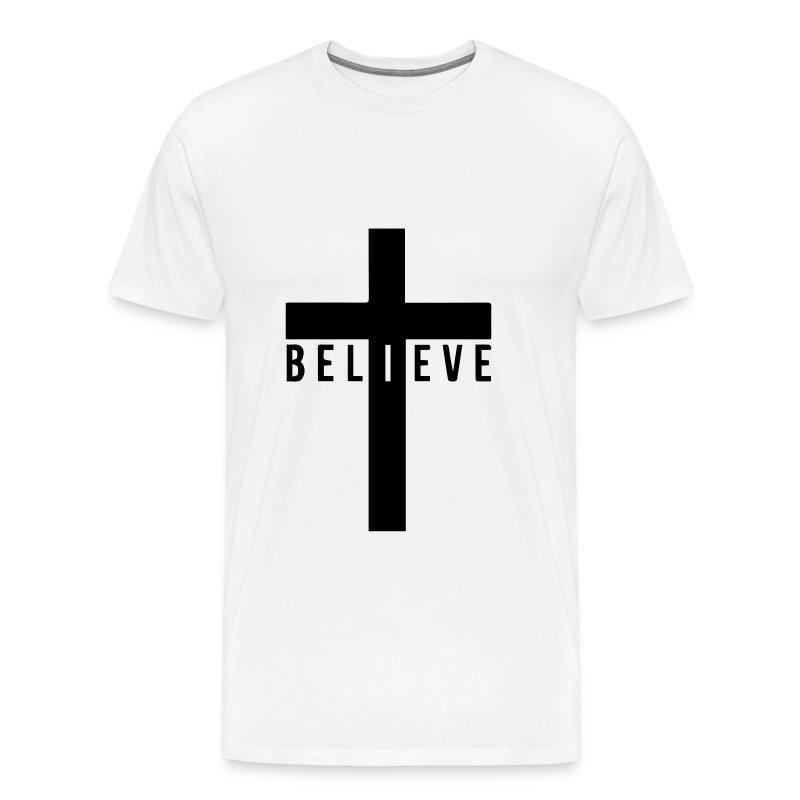 i believe cross - Men's Premium T-Shirt