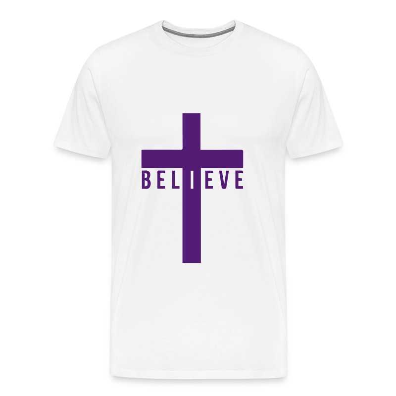 i believe cross - Men's Premium T-Shirt
