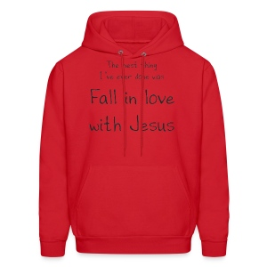 Fall in love with Jesus hoodie - Men - Men's Hoodie
