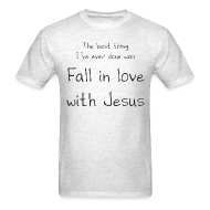 T-Shirts ~ Men's T-Shirt ~ Fall in love with Jesus - Men