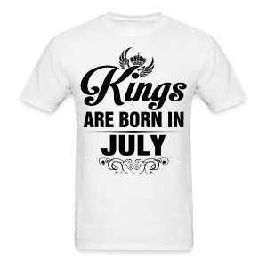 Kings Are Born In July Tshirt - Men's T-Shirt