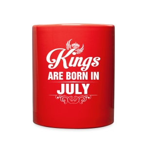 Kings Are Born In July Tshirt - Full Color Mug