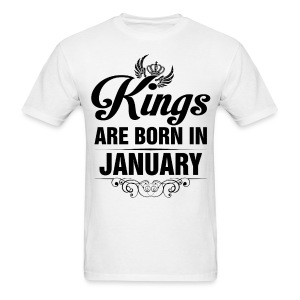Kings Are Born In January Tshirt - Men's T-Shirt